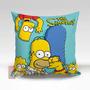 Almofada Decorativa Simpsons 35x35cm C/ Zíper + Enchimento