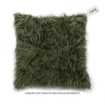 Capa De Almofada Grey Fox Marrom Em Pelo Sintético