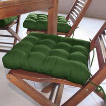 Assento Para Cadeira Futton Confort 40x40cm Musgo Ecaza