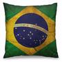 Almofada Decorativa Divertida Temática Bandeira Do Brasil