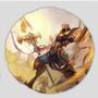 Almofada Redonda League Of Legends Azir Imperador Das Areias