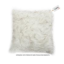 Capa De Almofada White Fox Branco Em Pelo Sintético