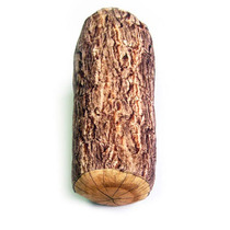 Almofada Tronco De Madeira Pelúcia