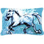 Sombra Do Cavalo No Azul Da Lona Da Tela Decorativa Pillow M