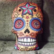 Almofada Caveira Mexicana,decoração Criativa E Divertida.