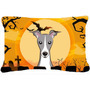Halloween Italian Greyhound Tecido Decorativa Pillow Bb1794p
