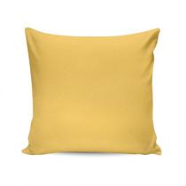 Almofada Sarja Lisa Amarela Capa Em Algodão - 45x45 Cm