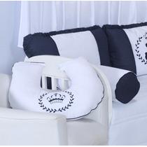 Almofada Para Amamentação Quarto De Bebê Ursos Azul Marinho