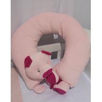 Almofada De Amamentação Rosa Quarto De Bebê Porquinho Hb