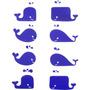 Placa De Acrílico Decorativo Baleias Netuau