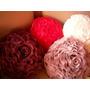 Almofada Em Formato De Rosa Em Organza Cristal