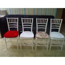 Capas Para Almofadas Cadeiras Tiffany Kit Com 4