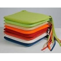 Almofada Capa De Cadeira Em Tecido Kit 4 Peças 35x35 Cm