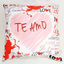 Almofada Te Amo 38x38 Amor Coração Love Namorada Esposa