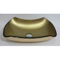 Cuba De Vidro Abaulada Bronze E Dourada 42 X 28