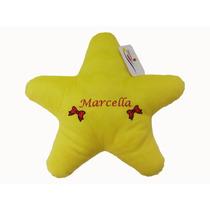 Almofada Estrela De Pelúcia Seu Nome Personalizado