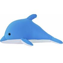 Almofada Bicho Golfinho Azul Microperola Tipo Fom Supers