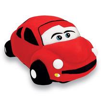 Carro Fusca Almofada Pelucia Vermelha 20x50cm Antialergica