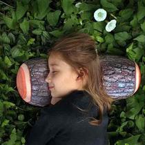 Almofada Criativa Tora Madeira Travesseiro Geek Antialergico