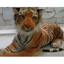 Safari Tigre Pardo Pelucia 60cm Pelúcia Decoração De Festa