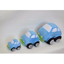 Kit Carros De Pelúcia Fusca Azul