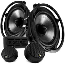 Kit 2 Vias Bravox 5 Pol Cs50u 120w Rms Falante Tweeter 4 Ohm