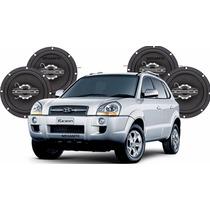 Kit 4 Alto-falantes P/ Hyundai Tucson 320wrms Mega Potente