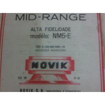 Mid Range Novik Serie Nm Prof. Cone Branco Nm5-e
