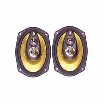 Kit Alto-falantes 6x9 Quadraxial Com Woofer 110w Rms Arlen