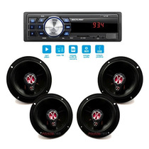Kit Alto Falante Palio 96 97 98 99 00 + Auto Radio Mp3 Usb