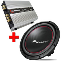 Alto Falante Subwoofer Pioneer 12 300w Rms + Taramps T-500