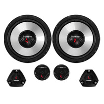 Kit 2 Vias 6 Pol Pesado Bomber Upgrade 200w Rms C/tweeter