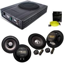 Kit Pro Audiophonic C/ Caixa Amplif. Aps 2.1+ks6.1+cs650+rca