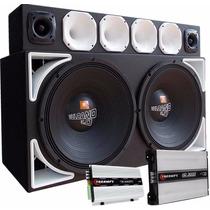 Caixa Trio Selenium Vulcano 18 Soundigital Sd3000evo Sd400.4