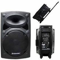 Caixa Ecopower Ep-1291 350 Rms Falante12 Mic S/ Fio Bateria