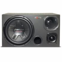 Caixa Som Trio Dutada Subwoofer Pioneer 400w + Corneta D250x
