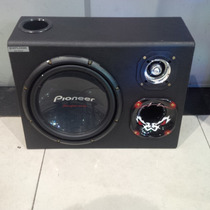Caixa Som Trio Subwoofer Pioneer Cara Preta D4 - S4 Completa