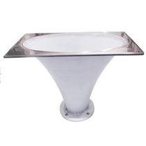 Cone Corneta Jarrão Alumínio Boca De Palhaço Branco D 250 X