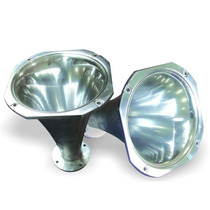 Corneta Em Aluminio Jarrão Polida Para Driver Jbl Hinor Eros
