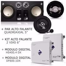 Caixa Falcon 12 + 2 Módulos + Kit 2 Vias 6 + Par Falante 5