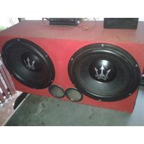 Caixa Com 2 Sub Rex 15 Pol 1300 Rms Cada