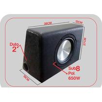 Caixa Com Sub Woofer 8 Polegadas 650w Pmpo Aceito Retira