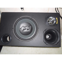 Caixa Trio Sub Hiken 10 +corneta+sup Tweeter+plugs=330 Rms