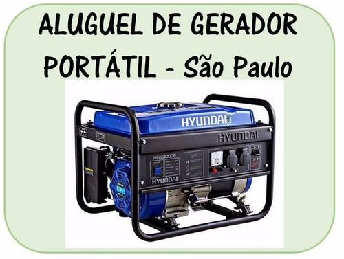 Aluguel, Locação De Gerador Portátil - Sp