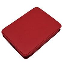 Capa Case Cor Vermelha De Couro Para Kobo Mini
