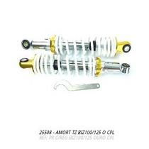 Amortecedor Biz125-biz100 Aluminio Branco