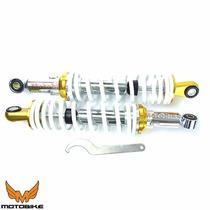 Amortecedor Biz 100/125 C/ Chave Regulagem Cor: Dourado Par