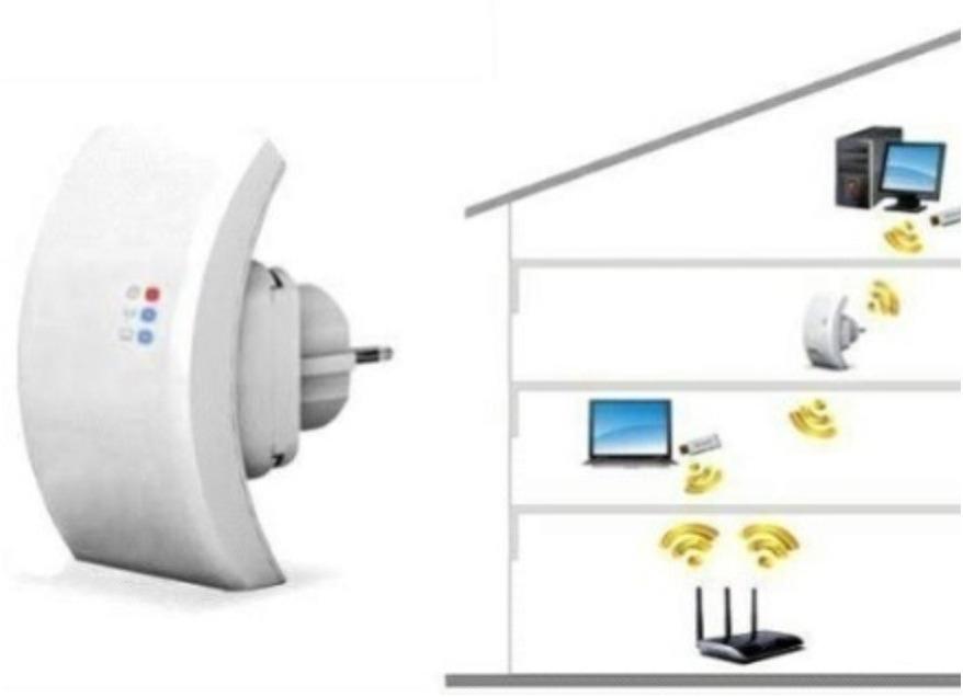 Amplificador e repetidor de sinal wifi wireless r 92 00 - Repetidor de wifi ...