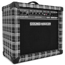 Caixa Amplificada Para Guitarra Sound Maker Cube G20 Xadrez