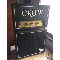 Amplificador Guitarra Crow Valvulado Tube 5w Head + Caixa